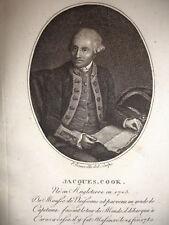COOK JACQUES Eploratore navigatore Cartografo Inglese