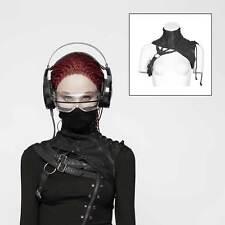 PUNK RAVE Cyber Hals Korsett Gothic Schulter-Harness Maske Kunstleder Schwarz