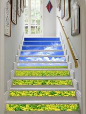 3D Flower field 265 Stair Risers Decoration Photo Mural Vinyl Decal Wallpaper AU