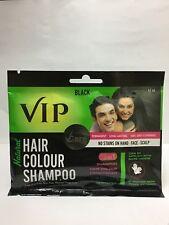 Vcare VIP Natural Hair Color Shampoo | Black |40ml | Long Lasting- Free Shipping