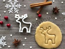 Deer Cookie Cutter 07 | Christmas |  Fondant Cake Decorating | UK Seller