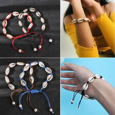 Jewelry Cowrie Rope Chain Natural Shell Bracelet Boho Handmade Seashell Conch