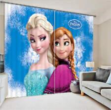 Frozen Elsa Anna 3D Customize Blockout Photo Curtains Print Home Window Decor