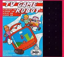 TV Game Robot Transformer Toy 1988 Vending Machine Sign