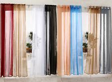 Gardinen Vorhang transparent Ösenschal Kräuselband Dekoschal Fenster Stores #307