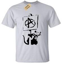 Banksy anarquía rata para hombre Camiseta Tee Cool Street Art Graffiti Hipster anarquista