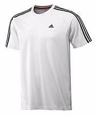 adidas T-Shirt weiss Ess 3S Climalite Sportshirt Funktionsshirt men Baumwolle