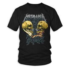 Camiseta DE METALLICA triste pero cierto oficial con licencia de metal negro para hombre Rock Merch Nueva