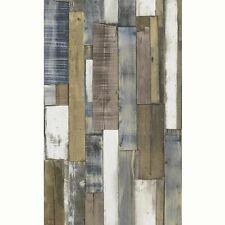 Placa de madera natural y azul PANEL PAPEL PINTADO-RASCH 203707-Nuevo Moderno Pared Decoración