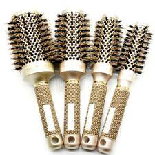 Nano Ionic Boar Bristle Hair Brush Salon Comb Barrel Blow Dry Hair Round Brush