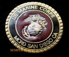 MCRD SAN DIEGO CA SEAL HAT PIN US MARINES BOOT CAMP GRADUATION MR DI SON MOM DAD