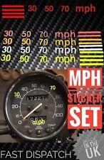 MPH stickers for  KPH speedo/speedometer bike car truck safe speed markers fluro