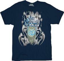 Adult Navy Fantasy Adventure Film The Last Airbender Air Nomad Smoke T-Shirt Tee