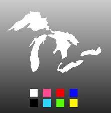 Great Lakes Die Cut Window Sticker Decal - Multiple Colors