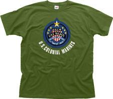 ALIENS COLONIAL MARINES WEYLAND Yutani - USS SULACO green t-shirt FN01450