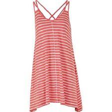 Fat Face - Women's - Longline Stripe Swing Top - Coral - 50% Cotton - BNWT