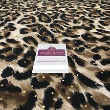 "Animal Print Gold Sequins Stretch Jersey Dress fabric 58"" Wide MV1031 Mtex"