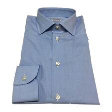 BRANCACCIO camicia uomo microquadro celeste/bianco 100% cotone