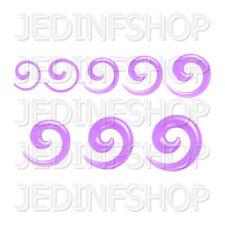 Ear Taper Lobe Stretcher - Spiral Snail | 1.6mm-10mm | Lilac Transparent Acrylic
