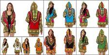 5 PC LOT Women African Dashiki Shirt Party Dress Boho Hippe Gypsy Festival Tops