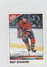 1990-91 Panini Album Stickers #60 Matt Schneider Montreal Canadiens Hockey Card