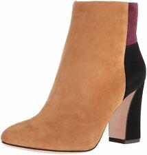 BCBG MAX AZRIA Ma Blyss Ankle Bootie  Cognac / Black Suede Colorblock Boot $325