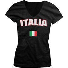 Italy Italia Repubblica Italiana Republic Rome Flag Pride Juniors V-neck T-shirt