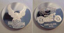 Médaille HARLEY DAVIDSON 1958 DUO-GLIDE 1er titre ARGENT signée Gondard TTBE