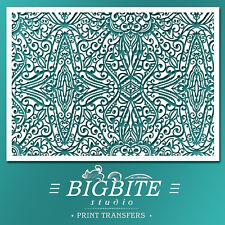 Decor Pattern STENCIL: Wallpaper Trellis (Furniture Print Transfer) #066