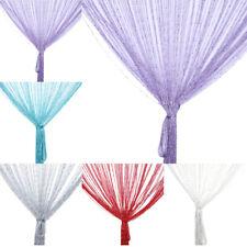 200x100cm String Curtain Bead Shiny Tassel Fringe Window Door Divider Room Decor