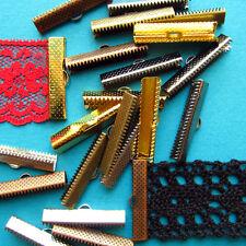 30-50mm 144 pcs. Ribbon Clamps Ribbon Crimp Ends Shipped from USA -- Wholesale