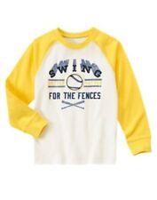 Gymboree Sunny Sports Swinging For The Fences Baseball Raglan Tee 5 8 Nwt
