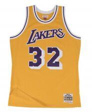 Magic Johnson  32 Lakers Mitchell   Ness NBA Mesh Throwback Jersey Yellow 9581b5701