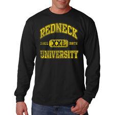 Redneck University XXL Since Birth Humor Funny Long Sleeve T-Shirt Tee