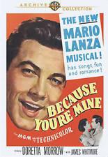 Because You're Mine, Good DVD, Mario Lanza, Doretta Morrow, James Whitmore, Dean
