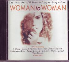 Woman To Woman CD South African pressing Sade Bush Yazz KD Lang & more