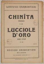 1931 GRAMANTIERI CHINITA LUCCIOLE D'ORO SPARTITI ORCHES