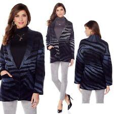 $79 Jamie Gries Collection Zebra Print Sweater Coat 437219-J (Medium) $39.90