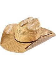 UNISEX AMERICAN HAT COMPANY COWBOY HAT POLI ROPE STOCKMAN CROWN STRAW 850