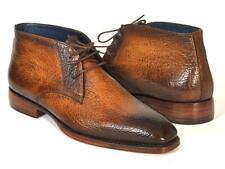 Paul Parkman Mens Shoes Boots Brown Camel Chukka Plain Toe Handmade FG55-CML