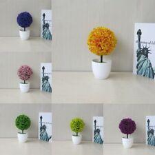 Garden Artificial Flowers Colorful Pot Culture Ball Tree Bonsai Potted Plants