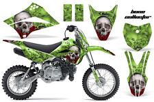 AMR RACING MOTOCROSS NUMBER PLATE GRAPHIC DECAL KIT KAWASAKI KLX 110 10-12 BCG