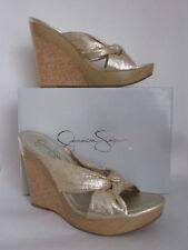 Jessica Simpson Fuji Rustic Platinum Cracked Metallic Wedge Sandal