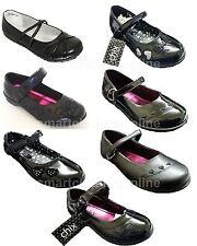 Girls Chix Bow School Shoes