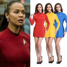 Star Trek Beyond Nyota Uhurae Red Blue Yellow Dress Uniform Cosplay Size XS-3XL