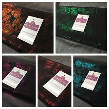 "Black Floral Crinkle foggy foil chiffon printed dance fabric 44"" M694 Mtex"
