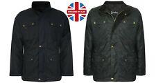 Men's Motorcycle Wax Cotton Jacket Biker Waxed Coat British UK