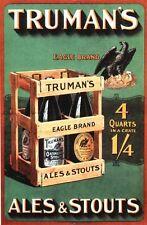 Cartel de publicidad cerveza vintage Trumans Ales A3/A2 impresión