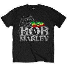 NEW Bob Marley Men's Tee: Distressed Logo