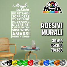 ADESIVI STICKERS MURALI WALL MURO PARETE DECORAZIONI ARREDO REGOLE CASA AMORE 1